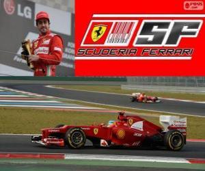 Puzle Fernando Alonso - Ferrari - Grand Prix korejské z jihu 2012, 3. klasifikované