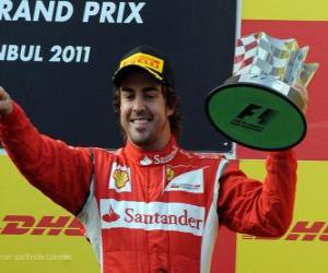 Puzle Fernando Alonso - Ferrari - Istanbul, Turecko Grand Prix (2011) (3. místo)