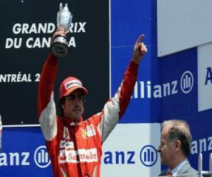 Puzle Fernando Alonso - Ferrari - Montreal, 2010 (zařazen 3rd)