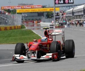 Puzle Fernando Alonso - Ferrari - Montreal 2010