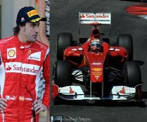 Puzle Fernando Alonso - Ferrari - Monte Carlo, Monako Grand Prix (2011) (2. místo)