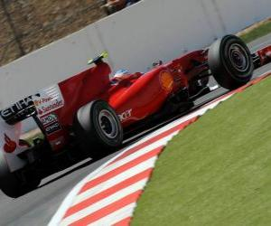 Puzle Fernando Alonso - Ferrari - Silverstone 2010