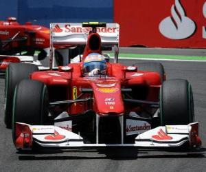 Puzle Fernando Alonso - Ferrari - Valencia 2010