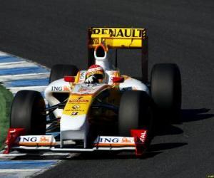 Puzle Fernando Alonso pilotování svého F1
