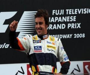 Puzle Fernando Alonso v pódium