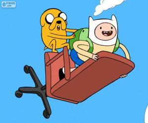 Puzle Finn a Jake létání