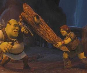 Puzle Fiona, válečník, spolu s Shrek