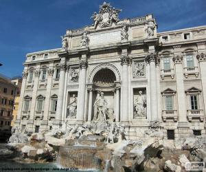 Puzle Fontána di Trevi, Řím
