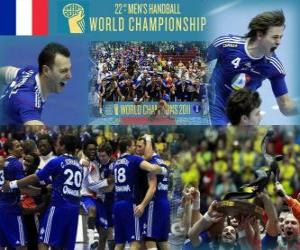 Puzle Francie 2011 Zlatá medaile světa v házené