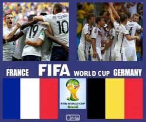 Puzle Francie - Německo, čtvrtfinále, Brazílie 2014