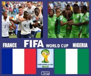 Puzle Francie - Nigérie, osmé finále, Brazílie 2014
