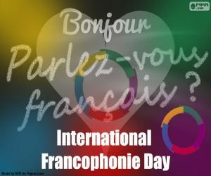 Puzle Francouzský jazyk den