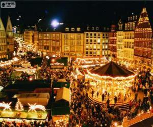Puzle Frankfurt vánoční trh