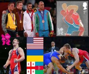 Puzle Freestyle 96 kg muži Londýn 2012