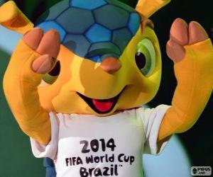 Puzle Fuleco, Oficiální maskot 2014 mistrovství světa v Brazílii je pásovec