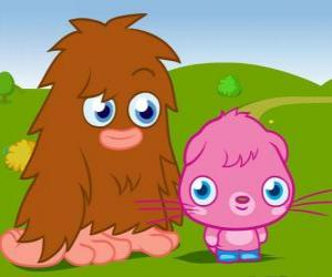 Puzle Furi a Poppet, dva zábavné monstrum Moshi Monsters