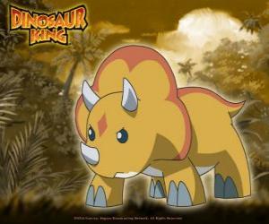 Puzle Gabu, právě nejsilnější dinosaura týmu-D, triceratops od krále dinosaura