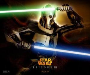 Puzle Generál Grievous je to strašný a mocný cyborg, který zasvětil svůj život ke zničení republiky a vyhlazení rytíři Jedi.