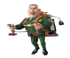 Puzle Generální WR obchodník dělá vojenský pozdrav