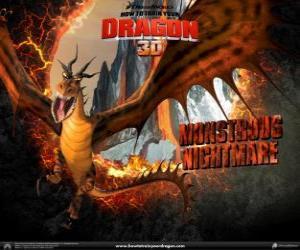 Puzle Gigantický draci Brovská Noční Můra mohou zaútočit na kteroukoli denní či noční hodinu, ze vzduchu nebo ze země