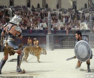 Puzle Gladiátorské souboj