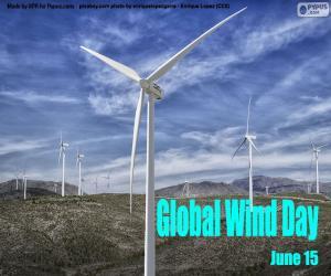 Puzle Globální den větru