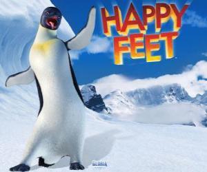 Puzle Gloria je žena Emperor Penguin, Brumla je v lásce s Gloria ve filmu Happy Feet