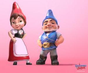 Puzle Gnomeo a Julie, protagonisté filmu založeného na Shakespeare je Romeo a Julie