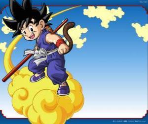 Puzle Goku jezdil na Kinton mrak, který může létat při vysoké rychlosti