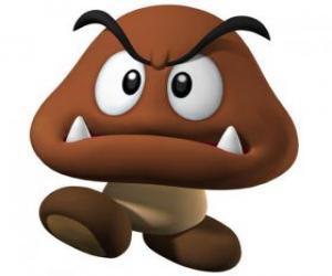 Puzle Goomba, nepřátelé Mario, druh hub s nohou