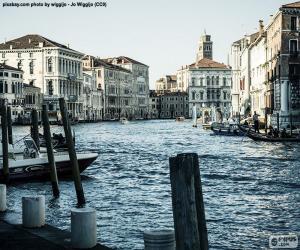 Puzle Grand Canal v Benátkách, Itálie