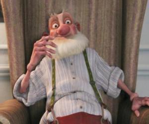 Puzle Grand-Santa, výstřední staré otce, kteří nenávidí Santa moderního světa