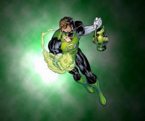 Puzle Green Lantern, superhrdina má sílu kroužku, který je jedním z nejsilnějších zbraní ve vesmíru
