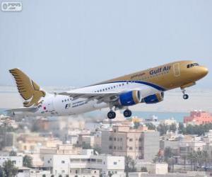 Puzle Gulf Air, národní letecká společnost království Bahrajn
