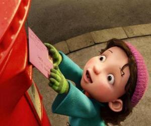 Puzle Gwen, dívka která Arthur musí splnit vánoční dárek