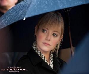 Puzle Gwen Stacy na pohřbu svého otce