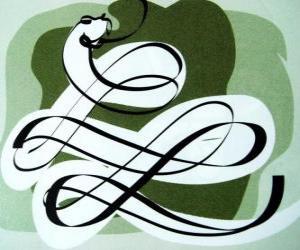 Puzle Had, znamení hada, Rok hada. Šestý čínského horoskopu znamení