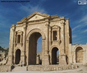 Puzle Hadriánský oblouk, Jordánsko