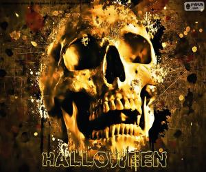 Puzle Halloween lebka