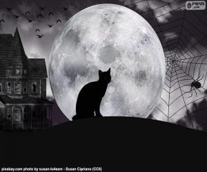 Puzle Halloweenské noci