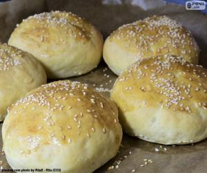 Puzle Hamburger chléb