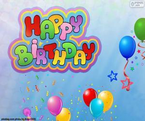 Puzle Happy Birthday, šťastné narozeniny
