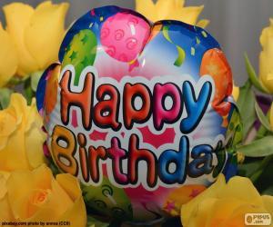 Puzle Happy Birthday balon balónek