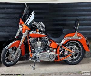 Puzle Harley Davidson oranžové