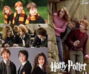 Puzle Harry Potter a jeho přátelé Ron a Hermiona