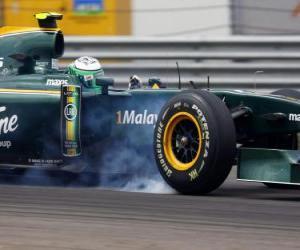 Puzle Heikki Kovalainen - Lotus - Istanbul 2010