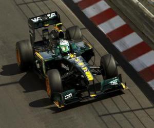 Puzle Heikki Kovalainen - Lotus - Monte-Carlo 2010