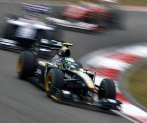 Puzle Heikki Kovalainen - Lotus - Shanghai 2010