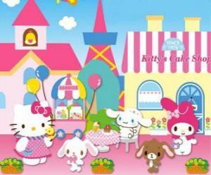 Puzle Hello Kitty a její přátelé se těší na den v těstě