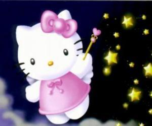 Puzle Hello Kitty je víla mezi hvězdami